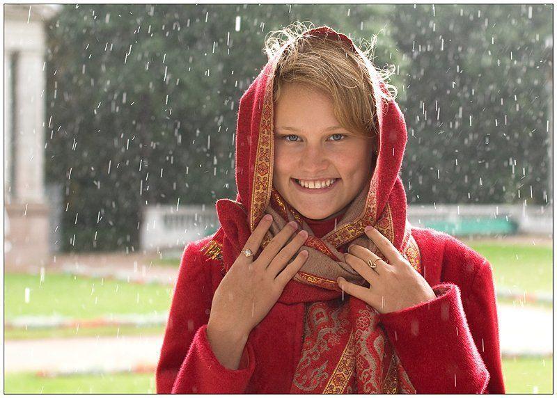 лето, дождь, девушка Капельки счастьяphoto preview