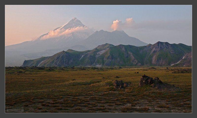 камчатка, вулкан, камень, безымянный Предзакатнаяphoto preview