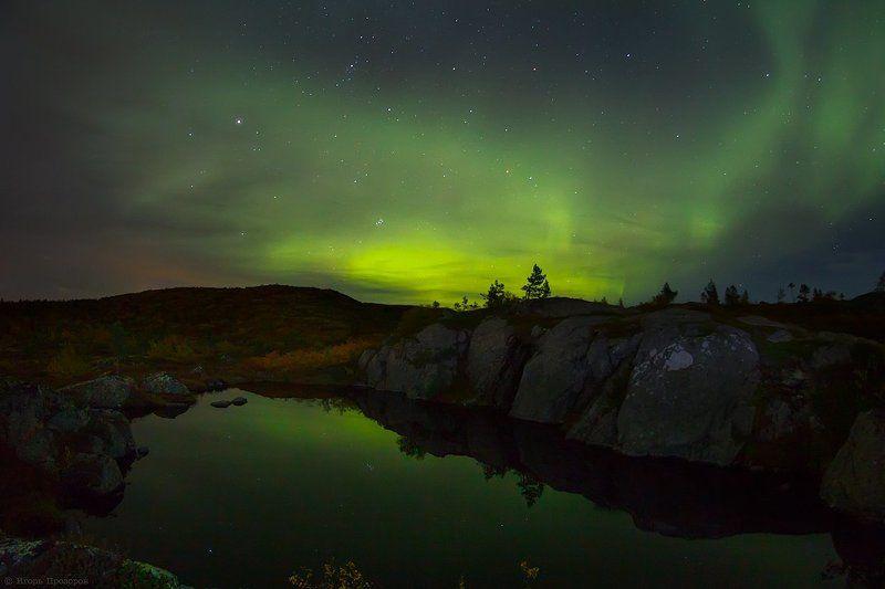 кольский полуостров, север, aurora borealis, северное сияние, полярное сияние, всполохи, ночная фотография, ночь, пейзаж, ночной пейзаж, небо, космос, заполярье, мечта, солнечный ветер, геомагнитная буря, магнитосфера Ночной сентябрь.photo preview