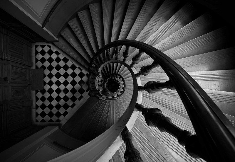 stairs, stockholm, sweden, patryk, ignacak bw ***photo preview