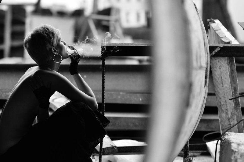 портрет, чб, табак, лето, ключевые слова Tabac Blondphoto preview
