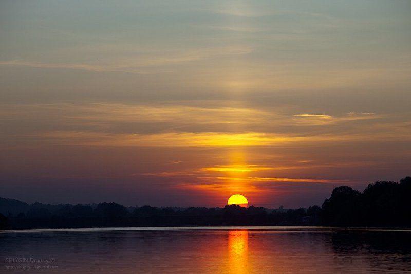 ока, закат, пейзаж Ока в предвечернемphoto preview