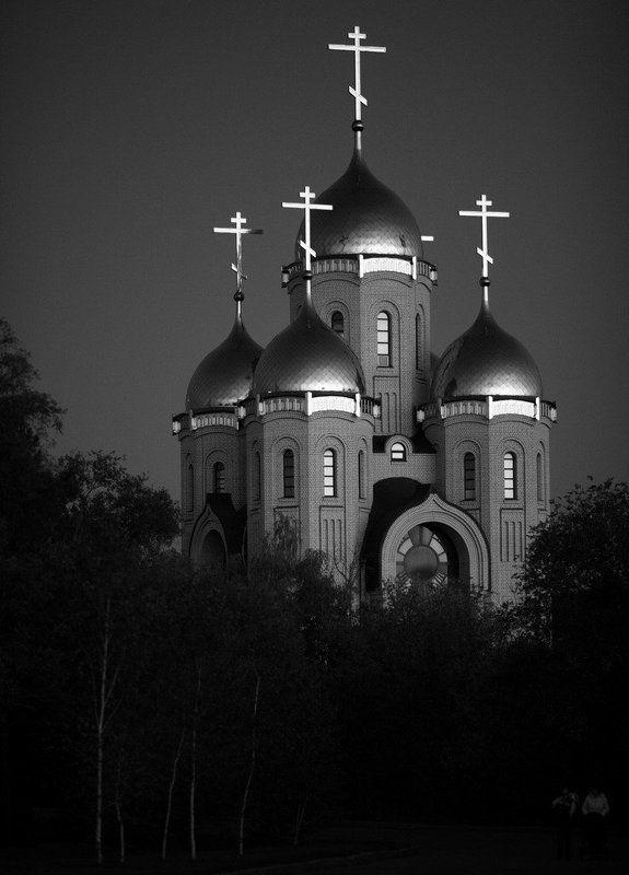 храм, закат Храм Всех Святыхphoto preview