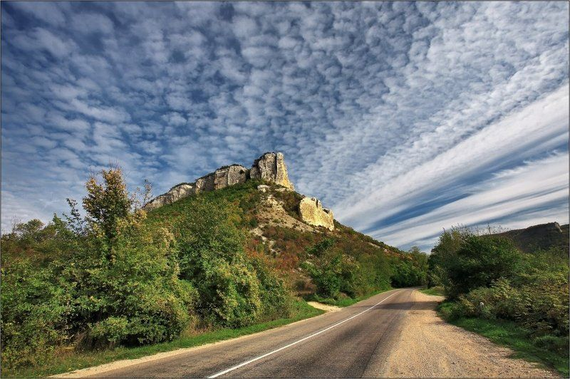 пейзаж По дороге с облакамиphoto preview