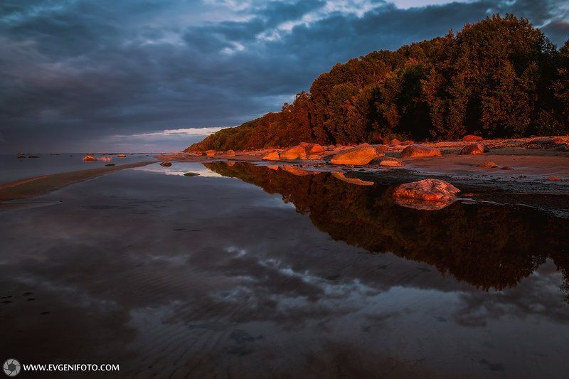 природа,пейзаж,отражения,закат,landscape,sunset,reflection,water,nature Отраженияphoto preview