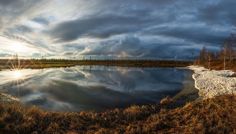 Весна, Озеро, Отражение, Снег, Ямал Веснаphoto preview