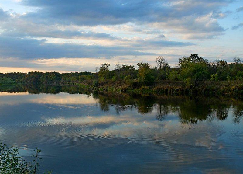 река, клязьма, вечер ***photo preview
