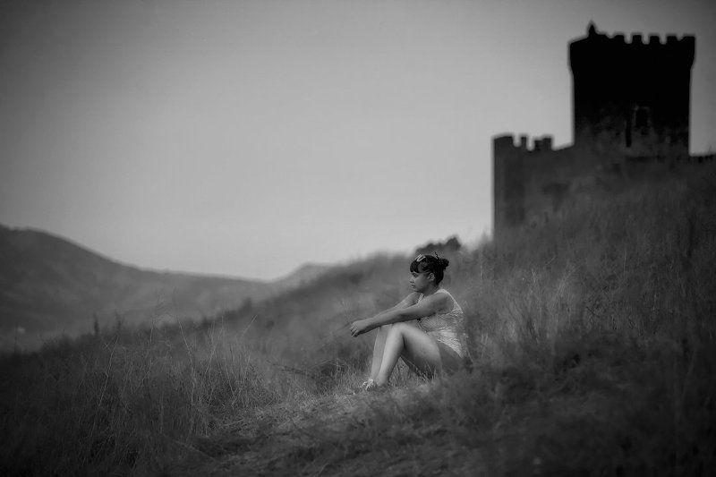 Люди девушка горы типажи море Натурная серия...photo preview