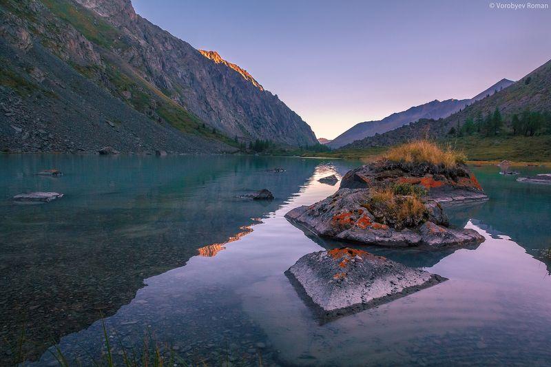Алтай, Горы, Озеро, Отражение, Рассвет pyramidphoto preview