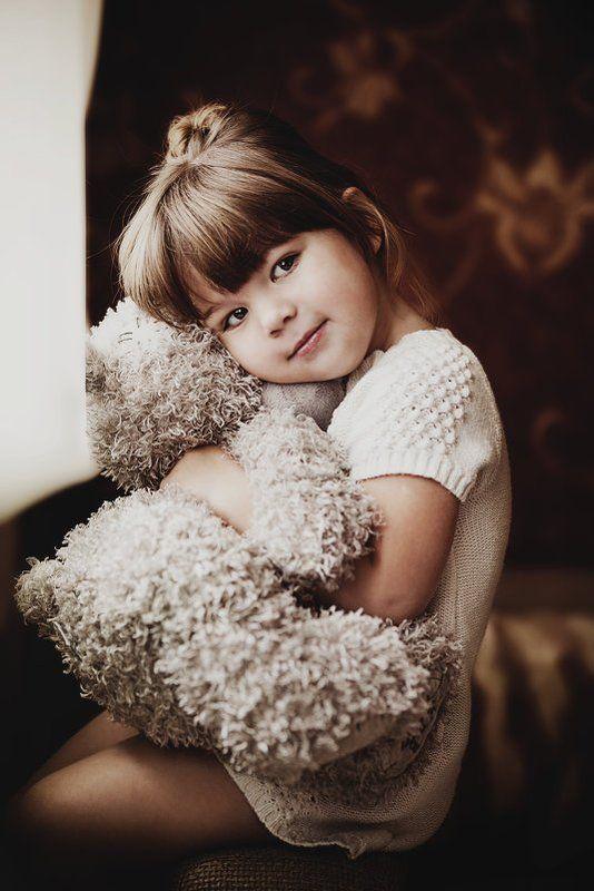 портрет,ребенок,мишка ***photo preview