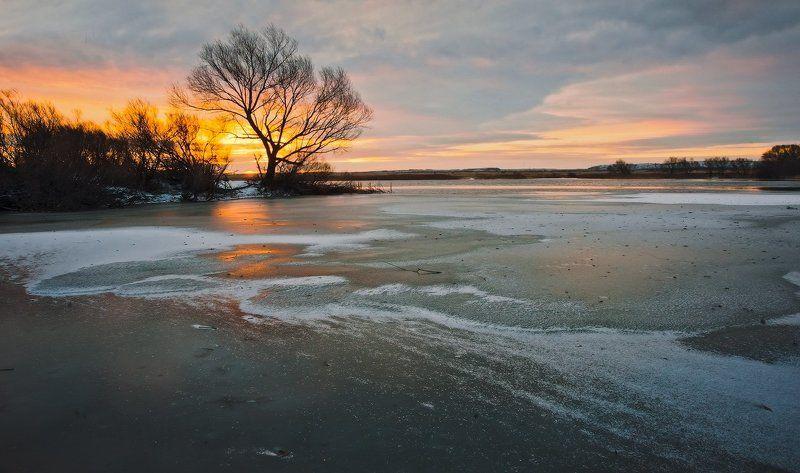 Лед, Озеро, Рассвет Перед рассветом_4photo preview