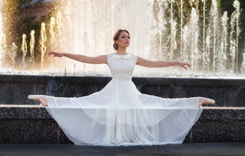 балерина, город, портрет, закат ***photo preview