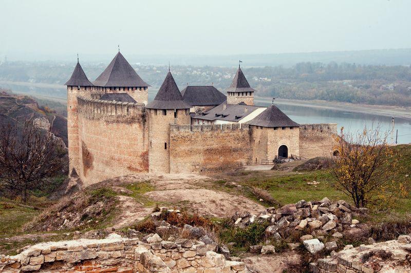 архитектура, днестр, крепость, оборонительные укрепления, река, старый город, туман, хотин Крепость Хотинphoto preview