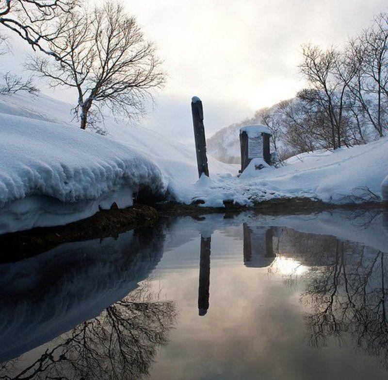 камчатка, пейзаж, вода, снег Камчатский вечерphoto preview