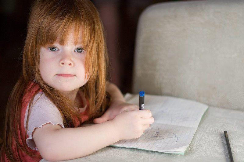 портрет, ребенок, вдохновение Вдохновениеphoto preview