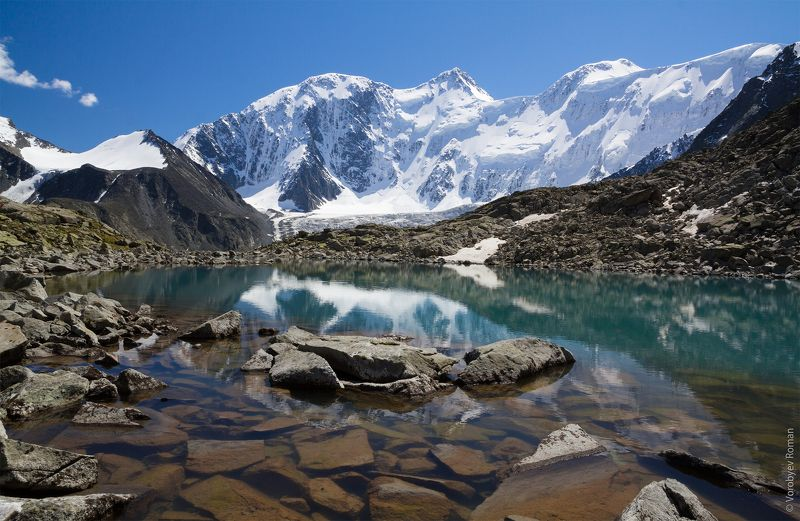Алтай, Г. Белуха, Горное озеро, Горный алтай, Горы, Лето, Озеро, Отражение ice Queenphoto preview