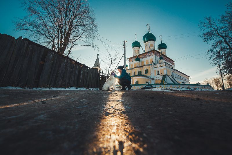 Город, Лучи, Собака, Тутаев, Храм Пёсикphoto preview
