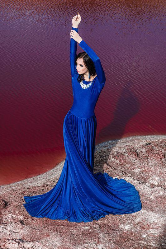 Blue, Girl, Red, River, Vladart СКphoto preview