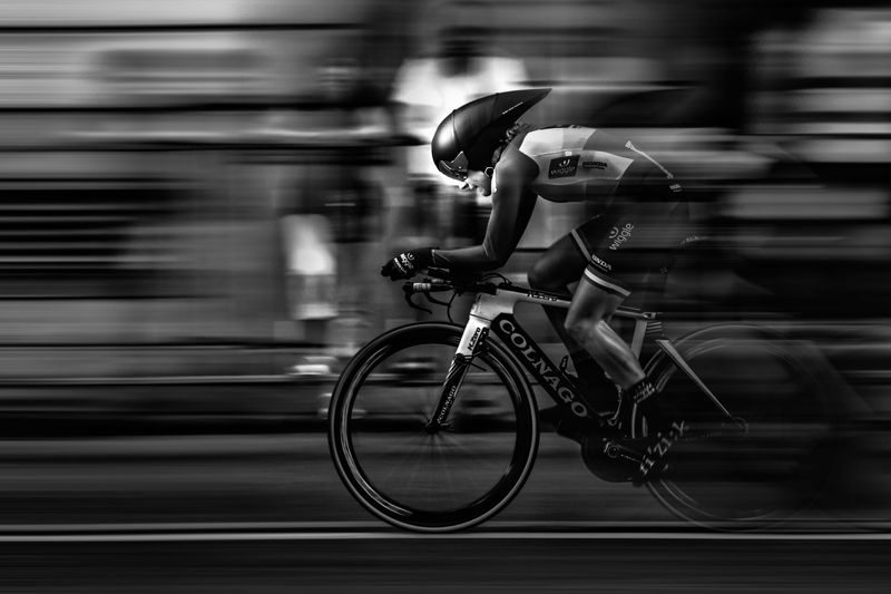 B&w, Bicycle, Bike, Circuit, Gril, Race, Street Determination and speedphoto preview