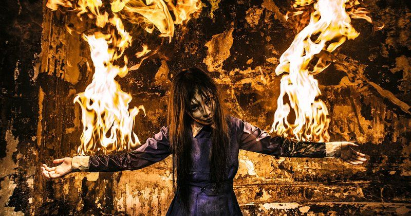 alessa, cosplay, fire, nurse, piramidhead, silient hill Silient hillphoto preview