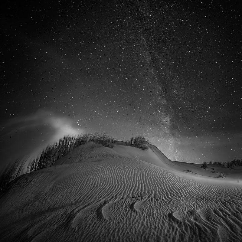Black and white, Landscape, Nida.long exposure, Night, Nikon Nidaphoto preview