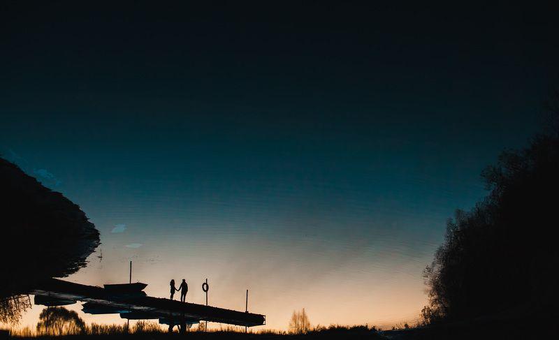 Любовь, Люди, Пара, Пейзаж, Река Отражениеphoto preview
