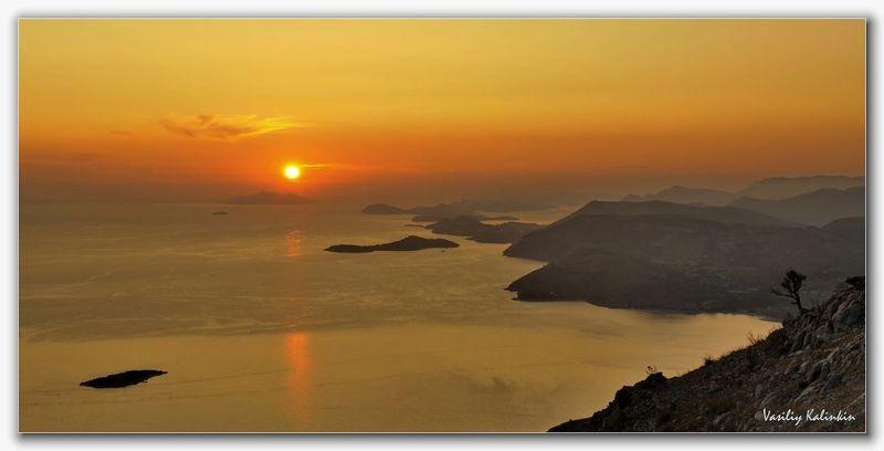 Адриатика. Закат. (Хорватия)photo preview