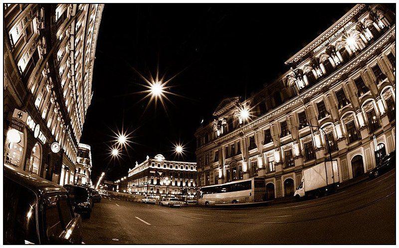 санкт петербург, фишай, ночь, питер, иван исаев Питерские зарисовкиphoto preview