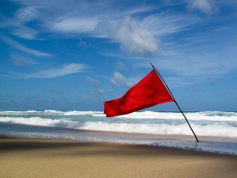 флаг, ветер, пляж, песок, океан, волны Ветерphoto preview