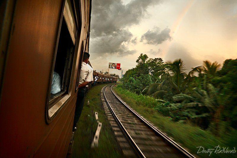 шри ланка, поезд, радуга Поезд до радуги. Шри Ланкаphoto preview