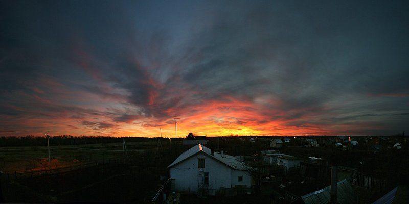 золото, закат, деревня** На крыше дома моегоphoto preview