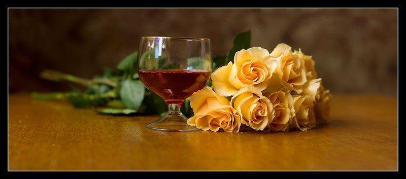 цветы, розы,вино Вечерphoto preview