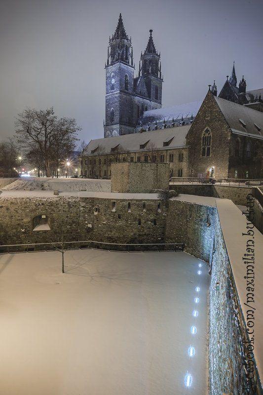 германия магдебург зима город зарисовки ночь снег Зимние зарисовки Магдебургаphoto preview