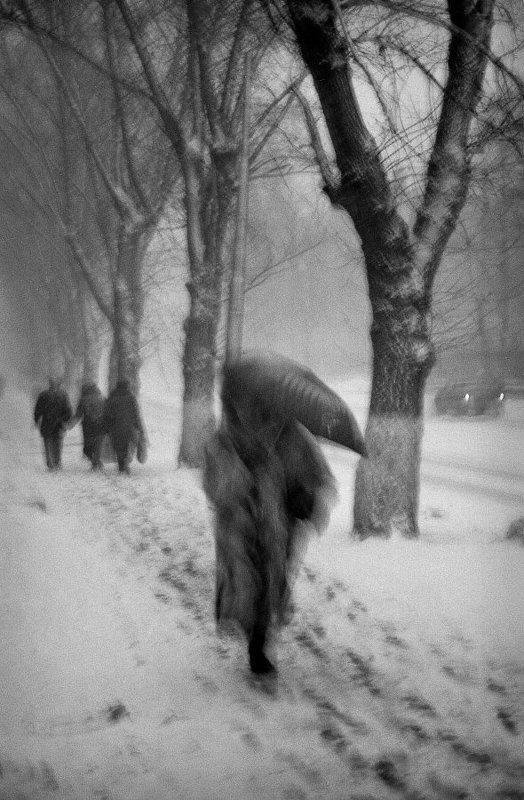Снегопад, город, улица, метель, люди Снегопадphoto preview