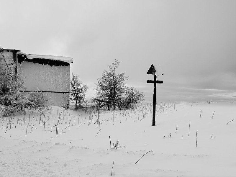 Чехия Германия горы снег зима  Отель \