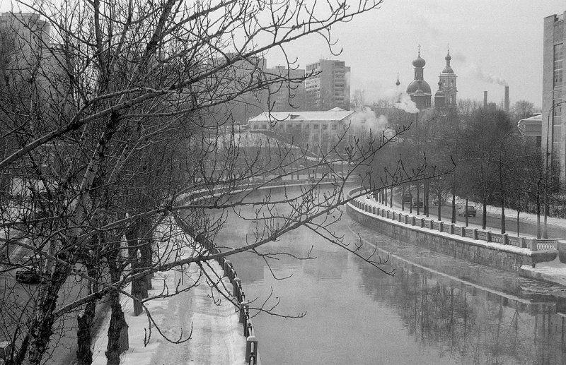 Москва, р. Яуза, январь, -25 Морозный день.photo preview