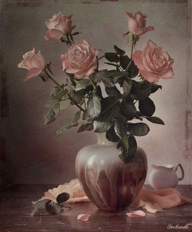 Ваза, Розы, Фотонатюрморт, Цветы Розы от любимогоphoto preview
