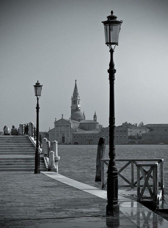 венеция, италия, набережная Фонари Венецииphoto preview