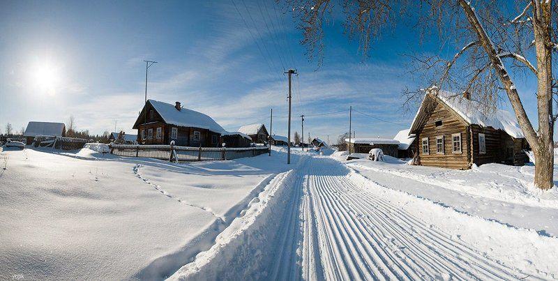 зимняя, сказка Деревенская зима...photo preview