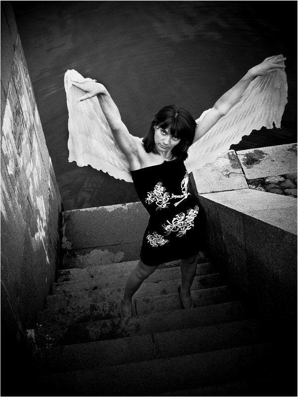 девушка, лето, взгляд, кокон, превращение в бабочку Летать...photo preview