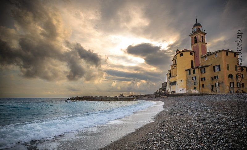 Вечер, Италия, Море вечерние зарисовки в Камольиphoto preview