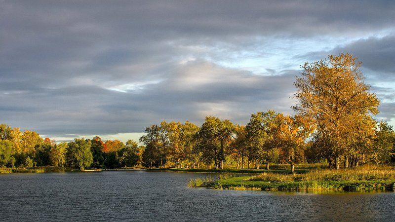 Каналы, Осень, Петергоф  Луговой парк Две картинки об осеннем Петергофеphoto preview