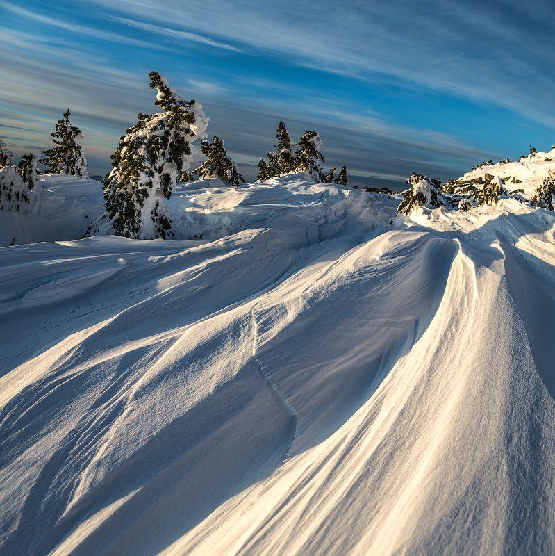 2016, Ветер, Горы, Зима, Снег, Шерегеш, Шория Снежные надувыphoto preview