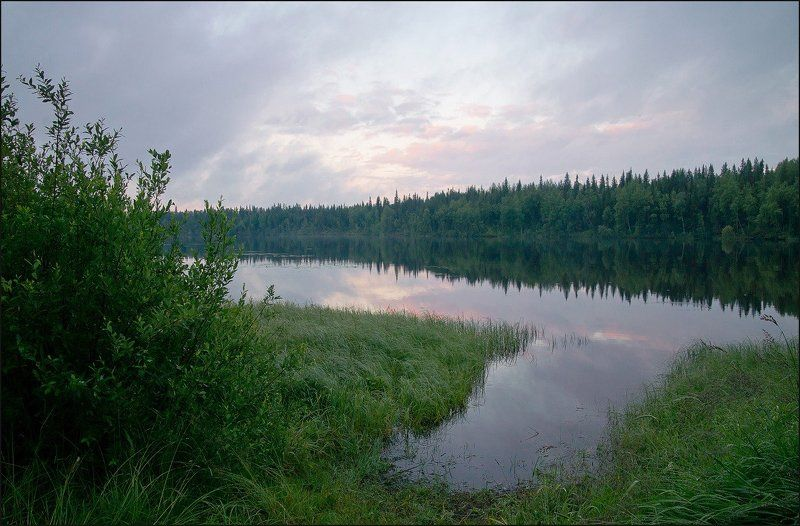 Тихий вечер на реке Кемьphoto preview