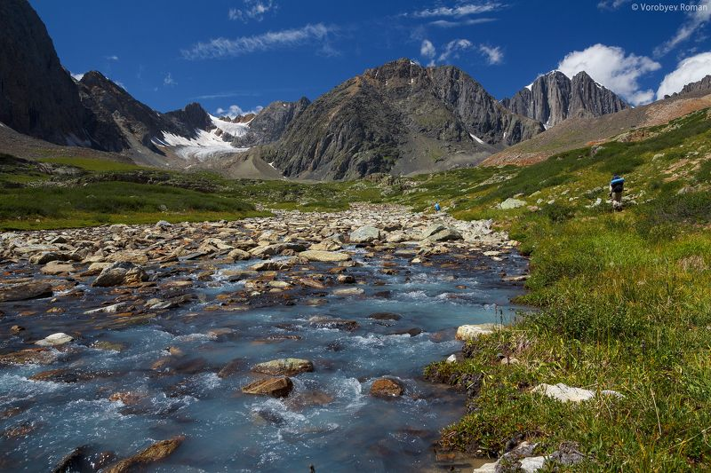 Алтай, Горный алтай, Лето, Река долина Абыл Оюк.photo preview