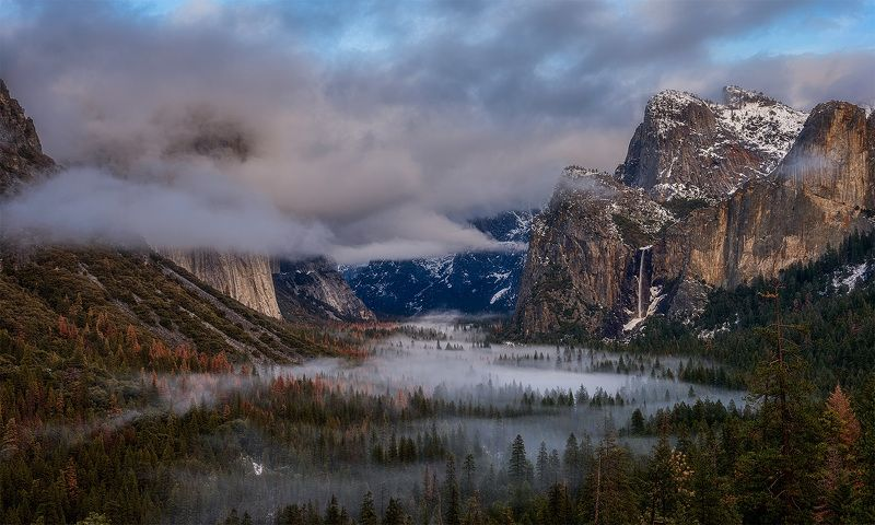 Yosemite Tunnel View El Capitan Накрыло...photo preview