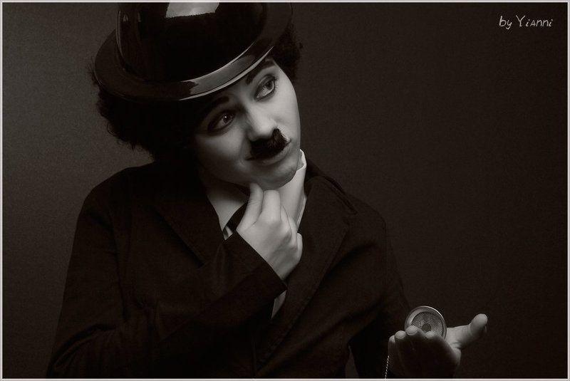 чарли, чаплин, комик, киноактёр, немое кино, котелок Вне времениphoto preview