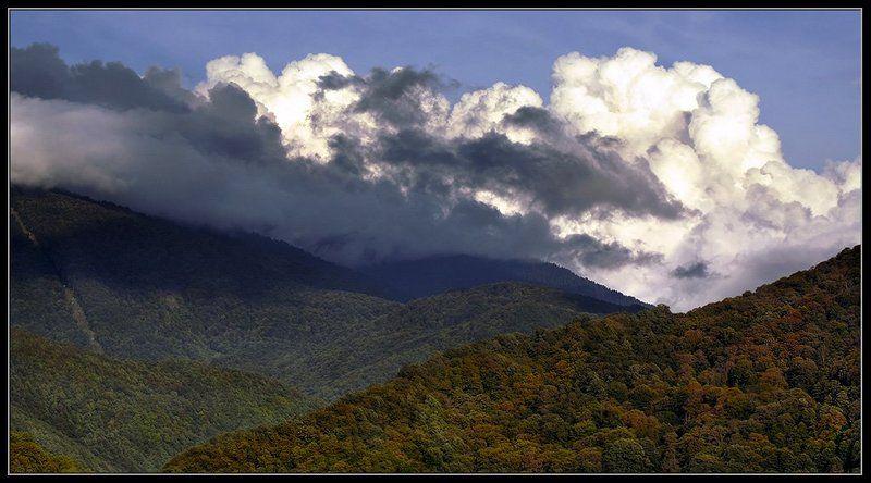 пейзаж, горы, облака Горы со взбитыми сливкамиphoto preview