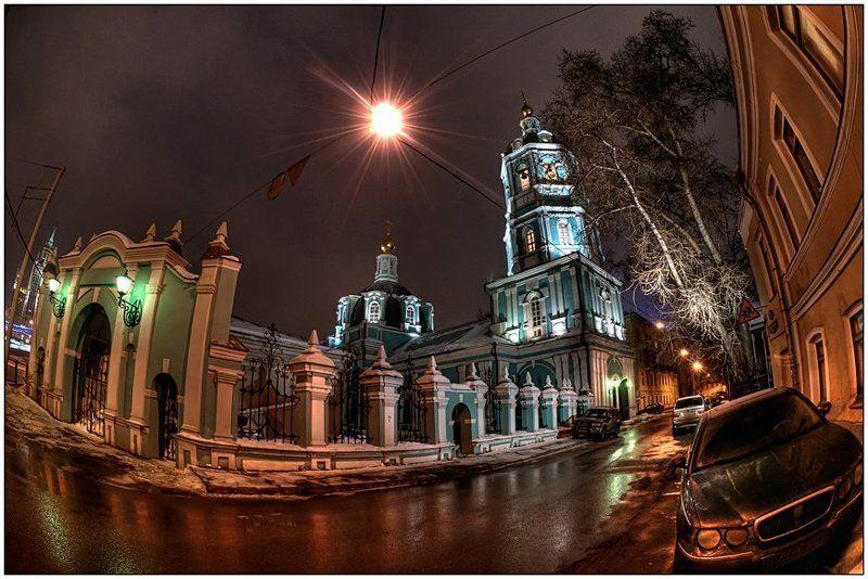 москва, зима, вечер,  храм Прогулки по Москвеphoto preview