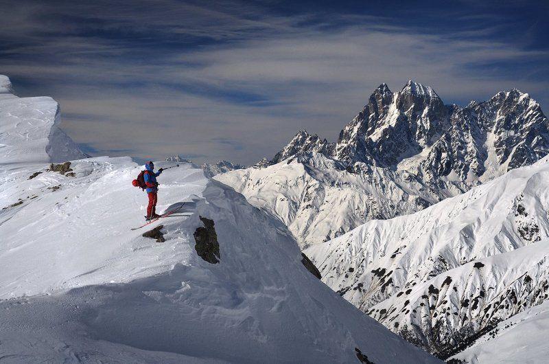 горы, горные лыжи, Кавказ, Ушба, Сванетия Со склонов Тетнульдиphoto preview